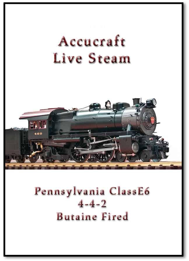 Accucraft AL97-437 E-6 Pennsylvania 4-4-2 #460, Green, Butane Ceramic Fired